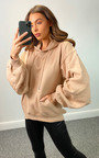 Sian Ruched Sleeve Hooded Jumper Thumbnail