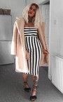 Silvee Bandeau Stripe Midi Dress Thumbnail