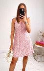 Simona Floral Strappy Mini Dress Thumbnail
