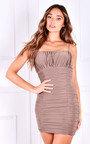 Simone Ruched Mini Dress Thumbnail