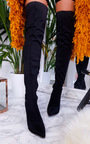 Sofi Stretch Thigh High Embellished Boots  Thumbnail