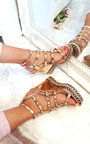 Sofi Studded Strappy Wedges Thumbnail