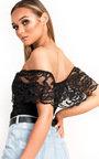Sofia Bardot Lace Bodysuit  Thumbnail