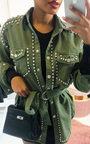 Soph Studded Embellished Denim Jacket Thumbnail