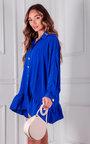 Sorelle Peplum Button Up Shirt Dress Thumbnail