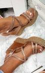 Sorsha Diamante Braided Wedged Heel Thumbnail
