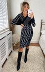Stacey Midi Dress with Geometric Print Thumbnail