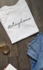Sara Stay Home Slogan T-Shirt Thumbnail