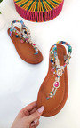 Steffi Chain Jewelled T-Bar Sandals Thumbnail