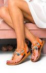 Steffi Chain Jewelled T-Bar Sandals Thumbnail