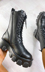 Steffi Mega Chunky Lace Up Boots Thumbnail