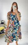 Stella Floral Midi Dress Thumbnail