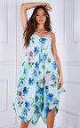 Stella Oversized Printed Midi Dress Thumbnail