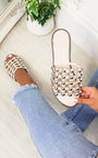 Stella Studded Caged Open Toe Sliders Thumbnail