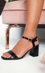 Steph Barely There Croc Block Heels Thumbnail