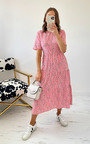 Sue Printed Midi Dress Thumbnail