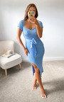 Summer Knitted Bodycon Midi Dress Thumbnail