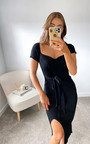 Summer Knitted Bodycon Midi Dress Thumbnail