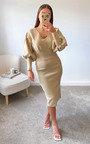 Susie Puff Sleeve Midi Dress Thumbnail