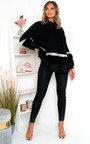 Suzi Faux Fur Sequins Embellished Jumper Thumbnail