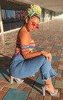 Suzie Bandeau Off Shoulder Crop Top Thumbnail