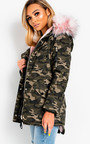 Sylvia Padded Faux Fur Hooded Jacket  Thumbnail