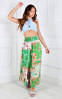 Sylwia Elastic High Waisted Wide Leg Printed Trousers Thumbnail
