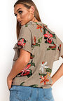 Tabbie Tropical Oversized Shirt  Thumbnail