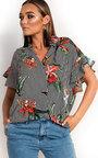 Tabbie Tropical Oversized Shirt  Thumbnail