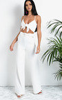 Tabby High Waist Belted Wide Leg Trousers Thumbnail