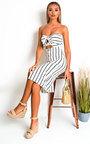Tallia Bandeau Button Up Midi Dress Thumbnail