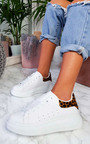 Tammi Faux Leather Trainers  Thumbnail