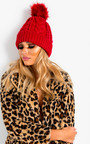 Tammy Faux Fur Lined Pom Pom Hat Thumbnail