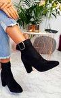 Tani Buckle Block Heel Ankle Boots Thumbnail