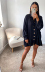 Tanya Oversized Frill Shirt Dress Thumbnail