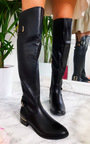 Tasha Buckle Knee High Boots Thumbnail