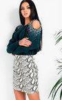 Tayler Faux Leather Skirt  Thumbnail