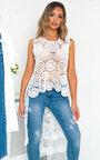 Taylor Crochet High Low Midi Dress Thumbnail