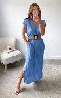 Teddie V Neck Midi Dress Thumbnail