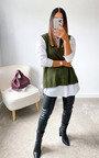 Tegan Knitted Vest Over Shirt Thumbnail