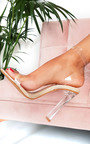 Tempany Barely There Perspex Heels Thumbnail