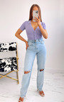 Terri Button Up Collared Knitted Bodysuit Thumbnail