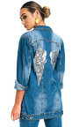 Terri Embellished Long-lined Denim Jacket Thumbnail