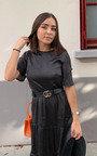 Tess Polka Dot Tiered Midi Dress  Thumbnail