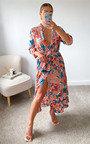 Tessi Printed Midi Shirt Dress in Plus Size Thumbnail