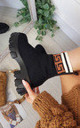 Thalia Chunky Printed Ankle Boots Thumbnail