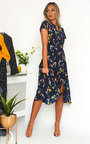 Thena Polka Dot Floral Chiffon Dress Thumbnail
