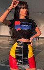 Tia Faux Leather Sports Panel Skirt  Thumbnail