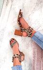 Tianah Double Strap Leopard Print Heel Sandals Thumbnail