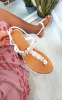 Tianna T Bar Pearl Embellished Sandals Thumbnail